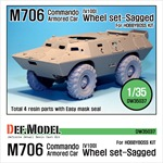 US M706(V100) Commando Sagged wheel set