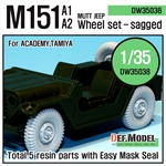 US M151 Jeep Sagged wheel set