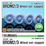 Soviet BRDM-2 Sagged wheel set
