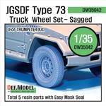 JGSDF Type 73 Light Truck Sagged wheel set