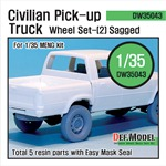 Civilian Pick up Truck Sagged wheel set 2
