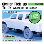 Civilian Pick up Truck Sagged wheel set 3