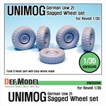 German UNIMOG Lkw 2t Sagged Wheel set