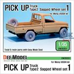 Pick up truck Type 2 Sagged Wheel set #1