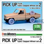 Pick up truck Type 2 Sagged Wheel set #2