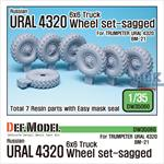 Russian URAL-4320 Truck / BM21 Sagged Wheel set