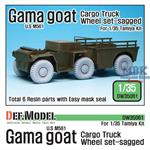 US M561 'Gama Goat' Sagged Wheel set