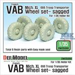 VAB 6X6 Michelin.XL sagged wheel set