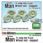 MAN 6X6 7t milgl Truck Sagged Wheel set