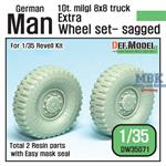 Extra wheels for MAN 10t 8x8 Sagged Wheel set