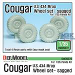 U.S Cougar MRAP Sagged Wheel set
