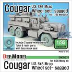 U.S Cougar 6x6 MRAP Sagged Wheel set