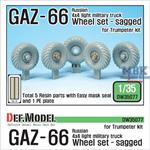 GAZ-66 Russian 4X4 Truck Wheel set