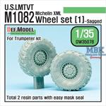 US M1082 LMTVT Michelin Sagged Wheel set