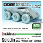 British Saladin MK.II Sagged Wheel set
