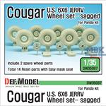 U.S Cougar 6x6 JERRV Sagged Wheel set