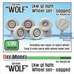 German 'Wolf' Lkw gl Iight Sagged Wheel set