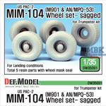 US M901 & AN/MPQ-53 Trailer Wheel set - Sagged
