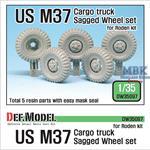 US M37 Cargo Truck Sagged Wheel set (Roden)