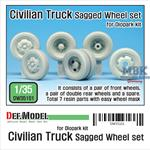 Civilian truck Sagged Wheel set