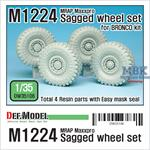 M1224 MRAP M-pro Sagged Wheel set (for Bronco)