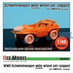 WW2 Schwimmwagen Wide Wheel set