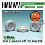 HMMWV RT/II Sagged Wheel set