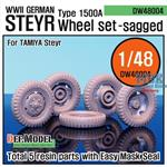 WW2 German Steyr 1500A Wheel set