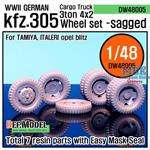 WW2 German Cargo Truck Kfz.305 Wheel set