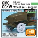 U.S GMC CCKW Cargo Truck Sagged Wheel set
