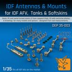 IDF Antennas & Mounts AFV, Tanks & Softskins