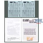 US Army Bumper Codes Generic Set 1 (black)