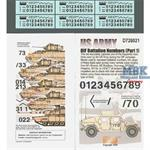US Army OIF Battalion Numbers (Part 1) 1:72