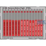 Remove before Flight  STEEL  1/32
