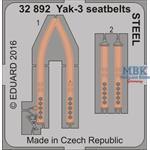 Yak-3 seatbelts  1/32