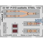 P-51D seatbelts STEEL 1/32