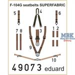 F-104G seatbelts  SUPERFABRIC