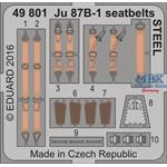 Ju 87B-1  seatbelts STEEL  1/48