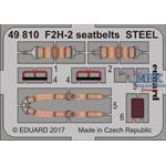 F2H-2 seatbelts STEEL   1/48