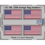 USN ensign flag modern STEEL 1/350