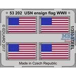 USN Ensign flag WW2 STEEL  1/350