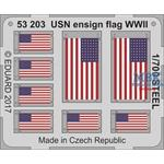 USN Ensign flag WW2 STEEL  1/700