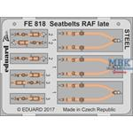 Seatbelts RAF late STEEL  1/48