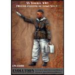 Waffen SS Tankman, Painting Wintercamouflage No.2
