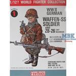 1/12 German Waffen SS Soldier w/ ZB26 LMG