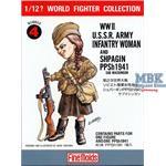 1/12 U.S.S.R. Infantry Woman w/ PPsh 1941