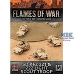 Flames Of War: Sd Kfz 221 & 222 Light Scout Troop