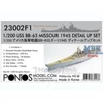 USS Missouri 1945 Detail Set w/ teak deck 1:200