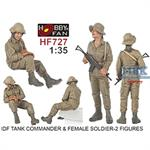 IDF Tank Commander + Female Soldier, 2 Figures