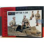 Sd Kfz 233 Afrikacorps Crew 2 Figures